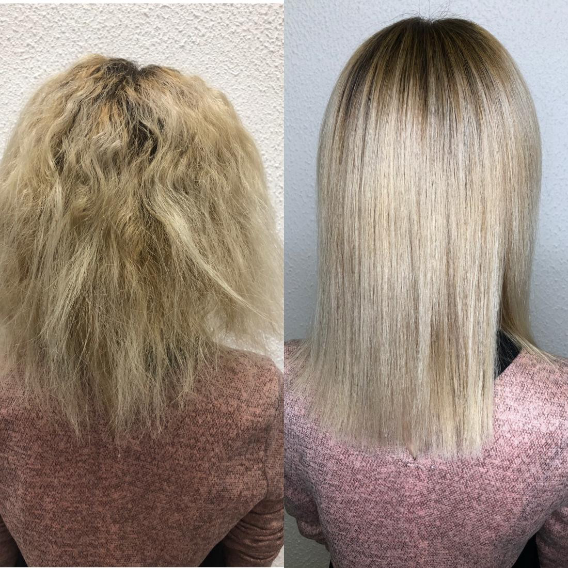 фото кератиновое выпрямление волос до и после китайских