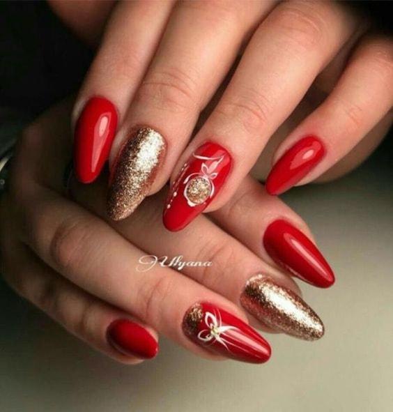 Красный маникюр: 24 фото ▷ Дизайн красных ногтей 24