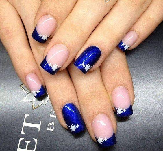 Синий маникюр – 23 фото. Дизайн ногтей с синим лаком 23 23