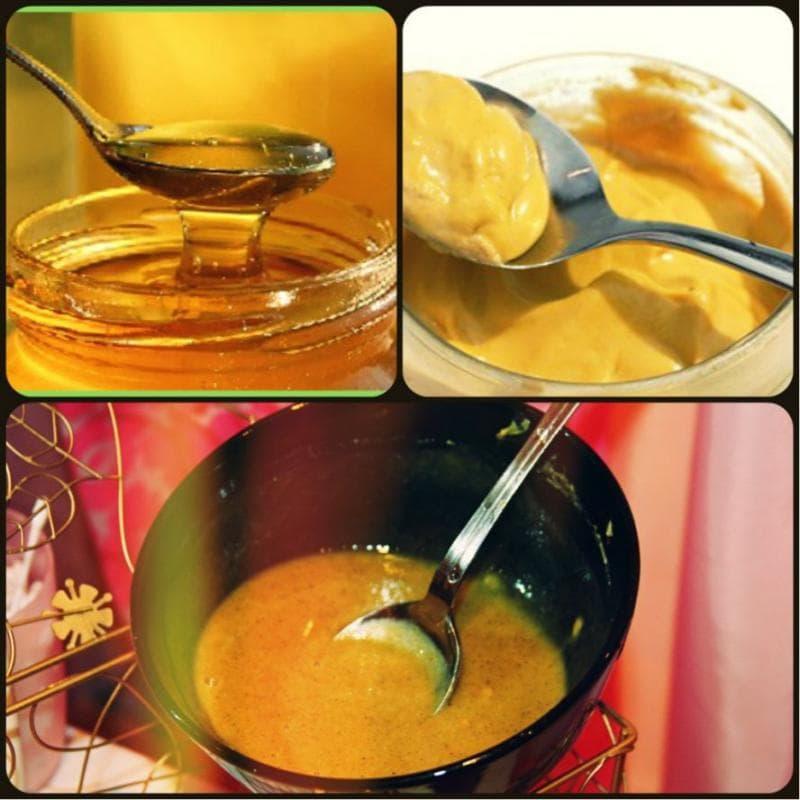 маска для похудения с горчицей и медом