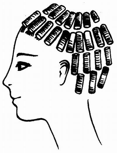 Круговая техника завивки волос