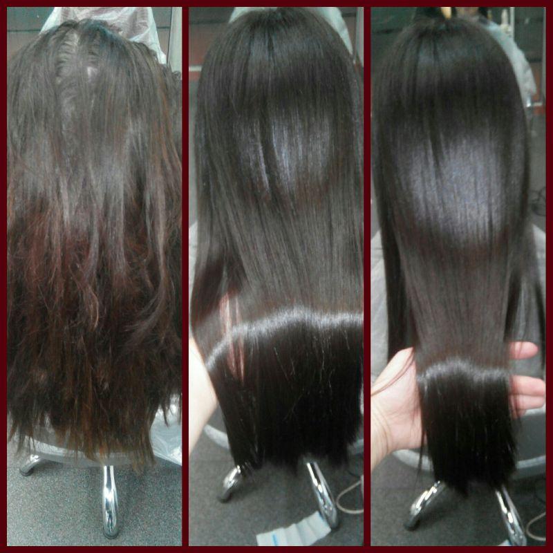 Длительность процедуры кератинового выпрямления волос